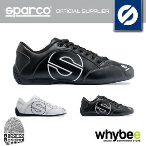 NEW-SPARCO-RACING-039-ESSE-039-LEATHER-SPORTS-SHOES-BLACK-or-WHITE-SIZES-36-46