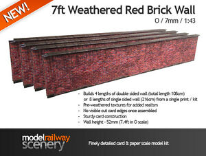 Image Is Loading 7ft RED BRICK WALL PRE CUT CARD KIT
