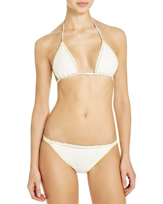 NWT TORY BURGH baddräkt Bikini 2pc set Sz M Nerano Ivory