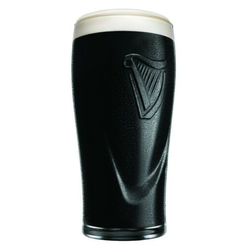 GUINNESS EMBOSSED PINT GLASS WITH HARP 20 oz OFFICIALLY LICENSED CHOOSE QUANTITY
