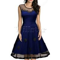 Ladies Women Rockabilly Vintage 50s 60s Swing Party Cocktail Pin Up Dress
