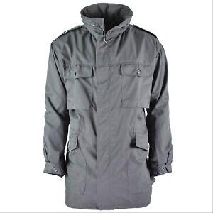 Genuine Austrian army coat trenchcoat military issue long grey jacket
