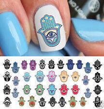 Hamsa Hand Hebrew Nail Art Waterslide Decals - Salon Quality!