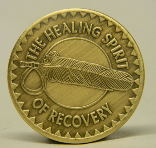 SOBRIETY MEDALLION BRONZE THE HEALING SPIRIT OF RECOVERY-RECOVERY CHIP