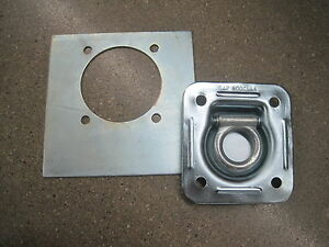 Recessed Floor D Ring w Backing Plate Enclosed Trailer Cargo Trailer Tie Down