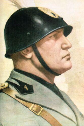 WW2 Portrait du Duce Bénito Mussolini
