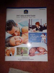 2007-BEST-WESTERN-HOTELS-ATLAS-amp-HOTEL-GUIDE-VGC-SELLING-AS-IS