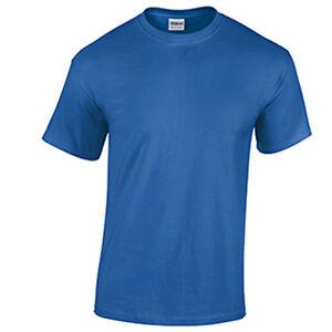 Light Blue LOW PRICE Blank Men/'s T Shirt Plain Work Mens Gildan Tee