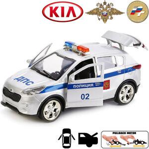Diecast Metal Model Car Kia Sportage Russian Police Toy Die-cast