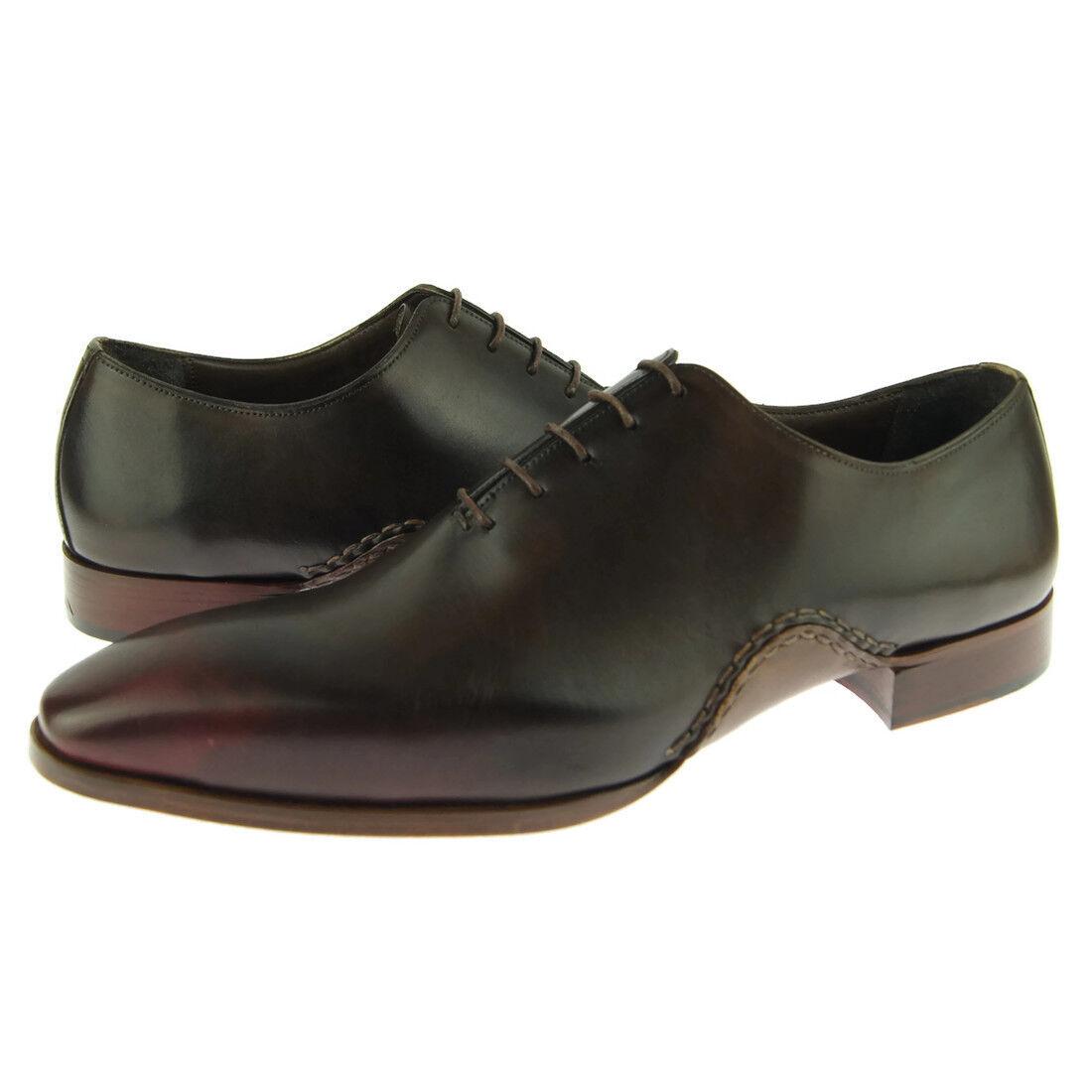 Fertini 8805 Plain Wholecut Oxford, Men's Dress Leather scarpe, Marroneee Burgundy