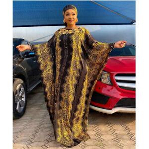 African Dashiki Moroccan Kaftan Women Muslim Maxi Dress Dubai Abaya Caftan Gown