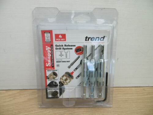TREND 3PCE HINGE FITTING DRILL BIT GUIDE SET SNAP//DBG//SET WITHOUT QC CHUCK