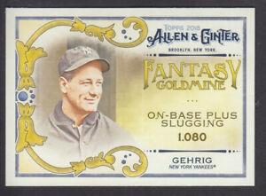 Topps-Allen-amp-Ginter-2018-Fantasy-Goldmine-FG-33-Lou-Gehrig-New-York-Yankees