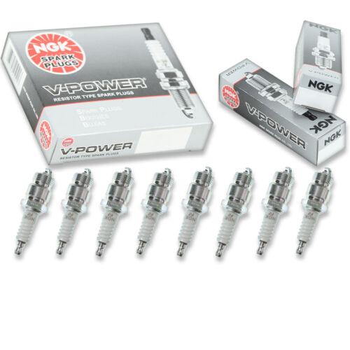 8 pcs NGK V-Power Spark Plugs for 1964-1973 Ford Mustang 4.3L 5.0L 4.7L 7.0L eo