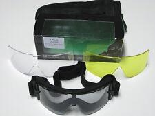 Schutzbrille Desert Storm Brille Sonnenbrille Skibrillle Schwarz