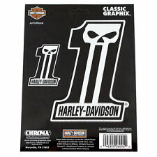 Biker Harley Davidson HD Dark #1 Skull Logo Chrom Emblem Aufkleber Decal Sticker