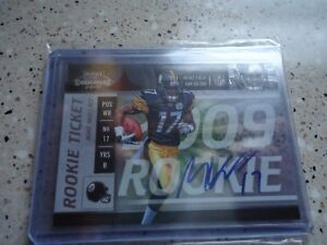 2009-PLAYOFF-CONTENDERS-ROOKIE-AUTO-MIKE-WALLACE-PITTS-STEELERS
