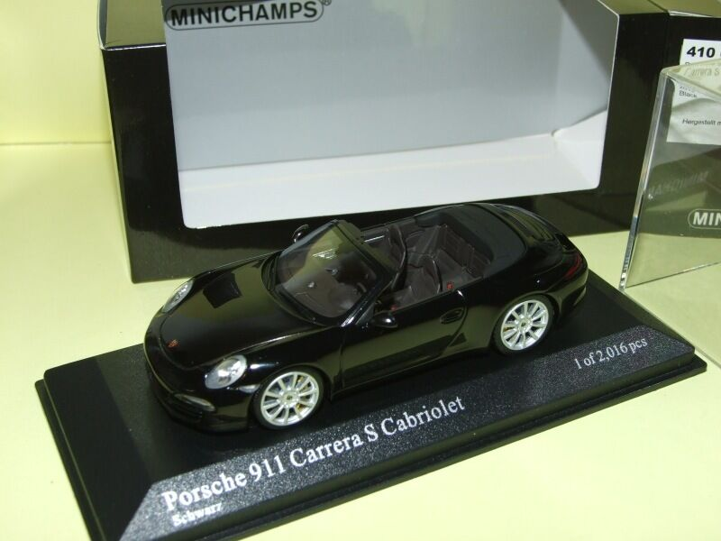 PORSCHE 911 991 CARRERA S CABRIOLET 2012 Noir MINICHAMPS 1 43