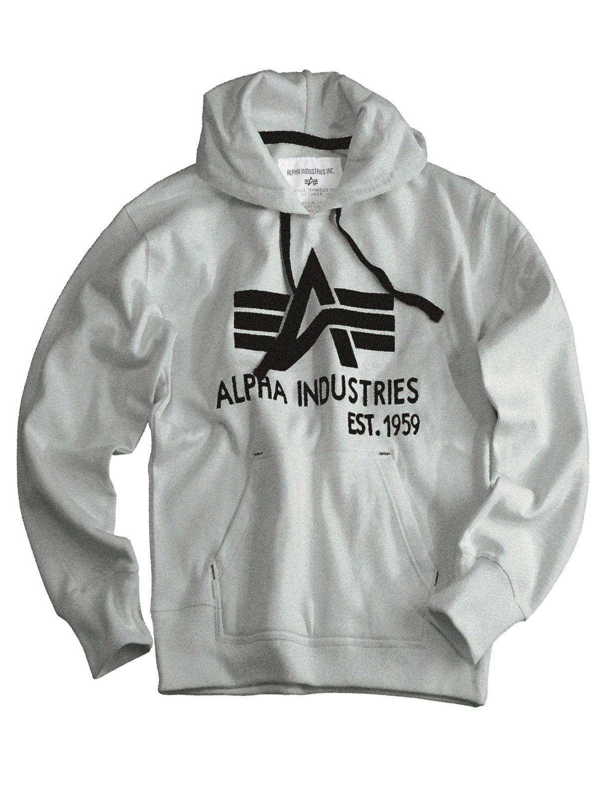 Alpha Industries Kapuzenpullover Big A Classic Hoody Pullover Grau  5397