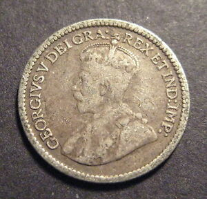 1913-Canada-5-Cents-Silver-No-Reserve-L307