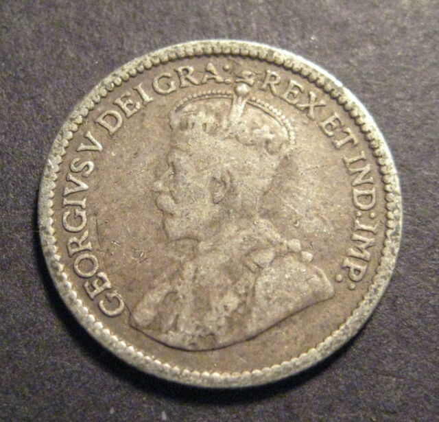 1913 Canada 5 Cents - Silver - * No Reserve * - (L307)