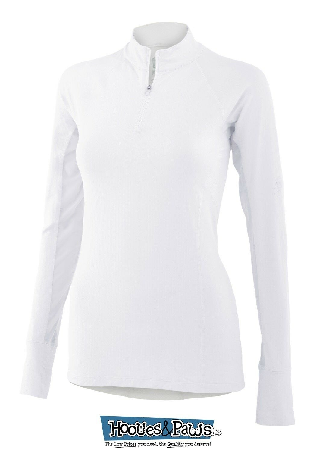 Noble Outfitters Ashley Performance Long Sleeve Riding Shirt UV Predection White