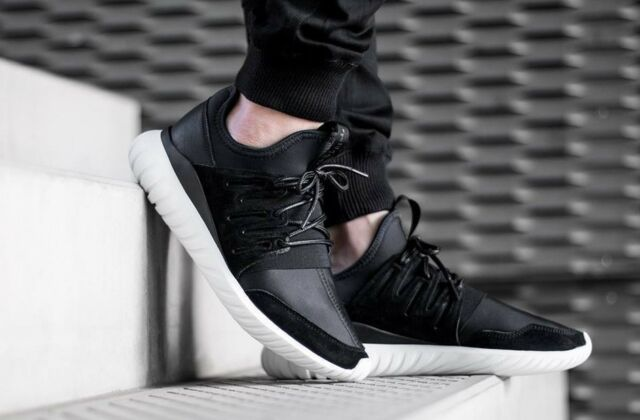 best service a873a b83d6 MENS ADIDAS TUBULAR RADIAL YEEZY KANYE WEST BLACK WHITE ATHLETIC FASHION  SHOES