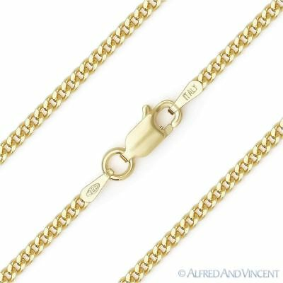 Lightweight 6.3mm Cuban Curb Link Chain Necklace 14k-Plated .925 Sterling Silver