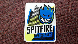 SPITFIRE-SKATEBOARD-STICKER-COLLECTOR-SERIES-LIVE-TO-BURN-4-5-X-3-5