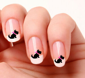 20 Nail Art Decals Transfers Stickers 694 Scottish Terrier