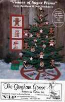 Sugar Plum Christmas Holiday Patterns Ornaments Banner Tree Skirt