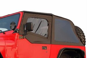 Image is loading R&age-2-in-1-Frameless-Soft-Top-&-  sc 1 st  eBay & Rampage 2-in-1 Frameless Soft Top u0026 Door Skins 1992-1995 Jeep ...