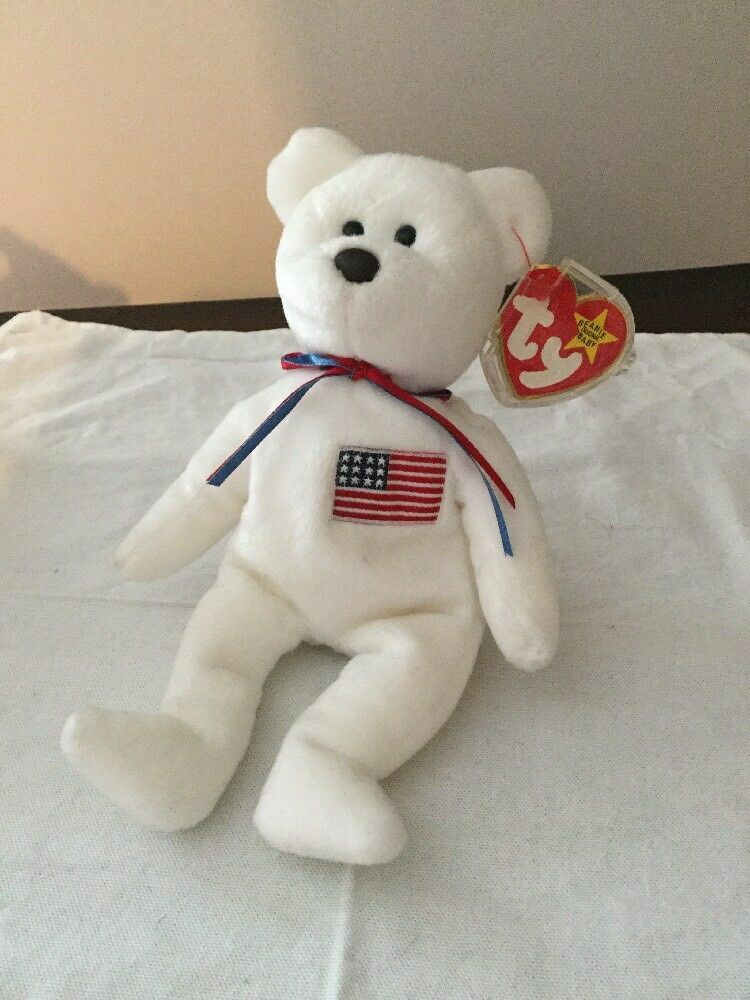 Ty Libearty Beanie Baby Bear With Tags