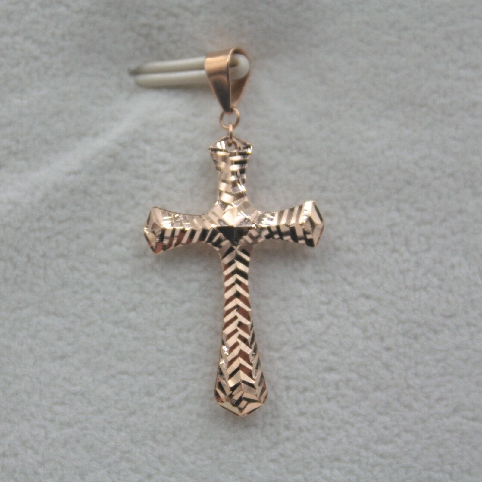 Pure Au750 18K pink gold Men Women Fashion Cross Pendant 1.1g   3112mm