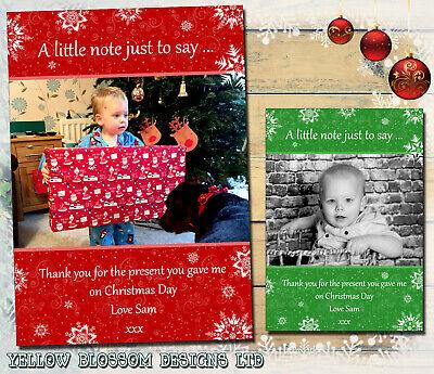 Personalised Christmas Xmas Thank You Cards Unicorn Including Envelopes 1
