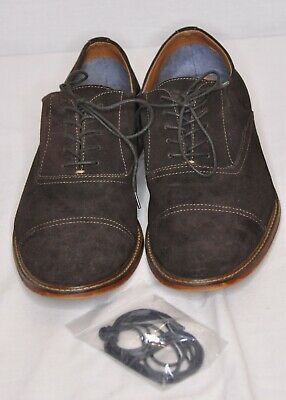 aldo dark brown suede men's size 14 casual shoe excellent