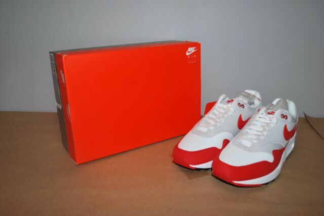 huge selection of b6d3d 31d8c Nike Air Max 1 Anniversary OG White University Red Grey Size 12 DS 908375  103