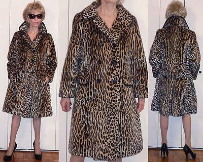 VTG ILGWU Walker Scott Company Russel Taylor by La France Leopard Faux Fur Coat
