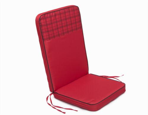 Oreiller Coussin d/'assise mobilier de jardin coussins coussin chaise de jardin 113x47 Rouge Grid Up