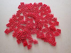 Diligent K 'nex Pieces. 106 Rouge Connecteurs Articulations-afficher Le Titre D'origine