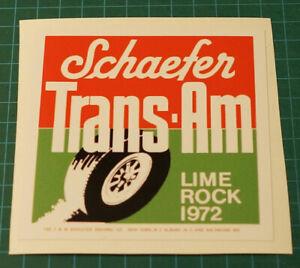 1972-SCHAEFER-TRANS-AM-LIME-ROCK-SCCA-BOSS-302-MUSTANG-JAVELIN-DECAL-STICKER