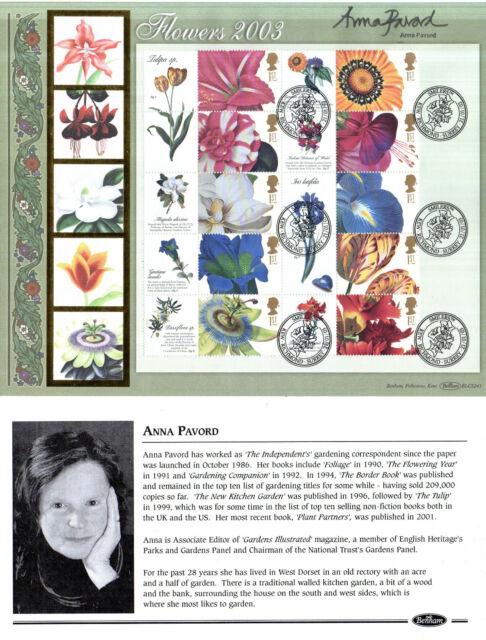 21 JANUARY 2004 FLOWER SMILERS BENHAM O/S SIGNED ANNA PAVORD KEW RICHMOND SHS