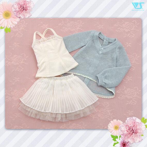 Volks MSD SDM SDC MDD (S M L) DDP (S) Shabby Blau Knit Mini dress from Japan F S