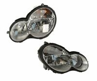 Mercedes W203 Set Of Left And Right Headlight Assembly Hella on sale