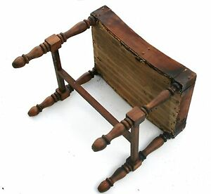 Image Is Loading Antique Footstool Wood Stool Furniture Log Cabin Chair