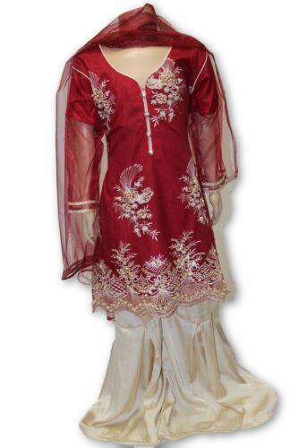 Details about  /B04 Pakistani Indian Girls 3pc Fancy Peplum Shirt Style