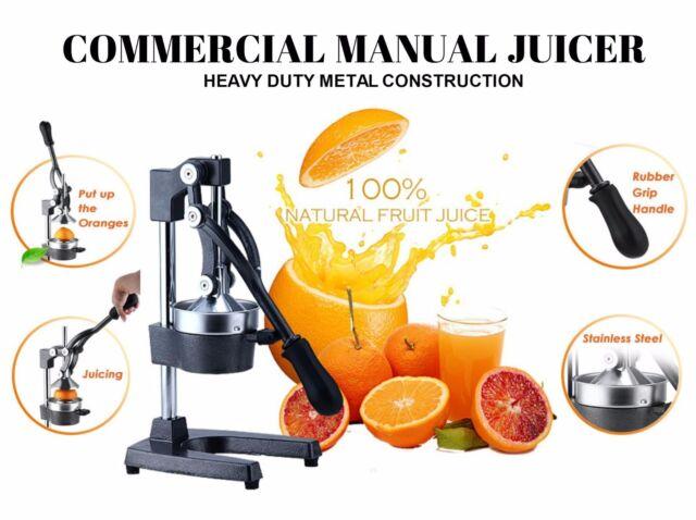 Commercial Manual Juicer Juice Extractor Hand Press Squeezer Fruit Orange Citrus
