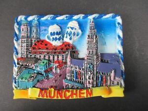 Magnet-Muenchen-Munich-Marienplatz-Poly-Relief-7-cm-Germany-Souvenir-NEU