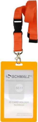 Set Kartenhülle mit Lanyard  Schlüsselband Ausweishülle Hochformat  Werksausweis