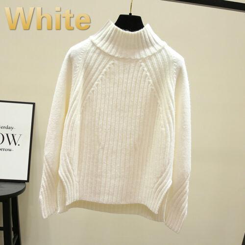 Womens Sweater Ladies Long Sleeve Turtle Neck Jumper Tops Warm Winter Fashion